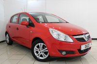 USED 2010 10 VAUXHALL CORSA 1.2 ENERGY 5DR 83 BHP AIR CONDITIONING + MULTI FUNCTION WHEEL + RADIO/CD + ELECTRIC WINDOWS + 15 INCH ALLOY WHEELS