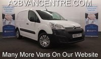 2016 CITROEN BERLINGO 1.6 HDi 625 ENTERPRISE with Wi-Fi Internet Browser, Air Con, Touchscreen DAB Radio, Bluetooth 3Seats £SOLD