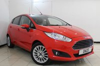 USED 2013 13 FORD FIESTA 1.6 TITANIUM 5DR 104 BHP BLUETOOTH + CRUISE CONTROL + MULTI FUNCTION WHEEL + CLIMATE CONTROL + RADIO/CD + 16 INCH ALLOY WHEELS