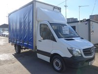 USED 2014 14 MERCEDES-BENZ SPRINTER 313 CDI LWB LUTON CURTAIN SIDER, 130 BHP [EURO 5], FULL SERVICE HISTORY