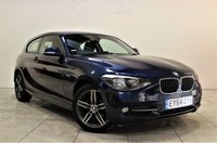 USED 2014 64 BMW 1 SERIES 2.0 118D SPORT 3d 141 BHP + 1 OWNER +  SERVICE HISTORY +  AIR CON + AUX + BLUETOOTH