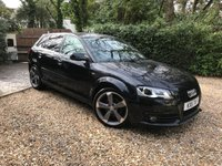 2011 AUDI A3 2.0 SPORTBACK TDI BLACK EDITION S LINE S Tronic 5dr 138 BHP £9989.00