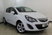 USED 2013 13 VAUXHALL CORSA 1.2 SXI AC 5DR 83 BHP AIR CONDITIONING + MULTI FUNCTION WHEEL + RADIO/CD + ELECTRIC WINDOWS + AUXILIARY PORT + 16 INCH ALLOY WHEELS