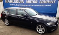 USED 2011 61 BMW 3 SERIES 2.0 320D EXCLUSIVE EDITION TOURING 5d AUTO 181 BHP 2011 BMW 320 DIESEL EXCLUSIVE EDITION AUTOMATIC ESTATE IN METALLIC BLACK WITH CONTRASTING LIGHT GREY HEATED LEATHER ALLOYS SAT NAV FULL SERVICE HISTORY SUPERB CONDITION MUST BE SEEN