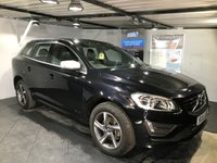 USED 2015 15 VOLVO XC60 2.0 D4 R-DESIGN NAV 5d 178 BHP Only £30 a year road tax : Bluetooth : Satellite Navigation : DAB Radio : Wi-Fi : R-Design steering wheel : R-Design contrasting leather upholstery : Rear parking sensors : Fully stamped Volvo service history