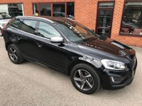 USED 2014 14 VOLVO XC60 2.4 D5 R-DESIGN LUX NAV AWD 5d 212 BHP Bluetooth : Satellite Navigation  :  DAB Radio  :  Wi-Fi  :  Heated front seats  :  R-Design steering wheel :        R-Design contrasting leather upholstery :            Electric / memory driver's seat :            Remotely operated tailgate : Rear parking sensors : Fully stamped service history