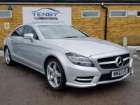 USED 2011 61 MERCEDES-BENZ CLS CLASS 3.0 CLS350 CDI BlueEFFICIENCY AMG Sport 7G-Tronic Plus 4dr SATNAV+HTD LTHR+B/TOOTH+DAB