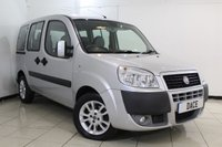 USED 2008 58 FIAT DOBLO 1.4 8V DYNAMIC H/R 5DR 77 BHP FULL SERVICE HISTORY + NEW CAMBELT AT 63,000 + AIR CONDITIONING + RADIO/CD + ELECTRIC WINDOWS + ELECTRIC MIRRORS + 15 INCH ALLOY WHEELS