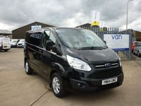 2015 FORD TRANSIT CUSTOM 2.2TDCi  T270 LIMITED L1 125 BHP Air con bluetooth cruise control front and rear parking sensors and much more  £12395.00