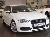 USED 2014 64 AUDI A3 2.0 TDI S LINE 5d 148 BHP +LEATHER+AUDI SERVICE HISTORY+