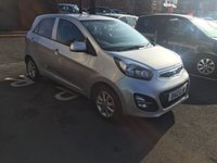 USED 2012 12 KIA PICANTO 1.2 2 5d AUTO 84 BHP CHEAP TO RUN AUTOMATIC WITH EXCELLENT SPECIFICATION INCLUDING PARKING SENSORS, AIR CONDITIONING, ALLOY WHEELS AND AUXILLIARY/USB INPUT. EXCELLENT FUEL ECONOMY WITH LOW CO2 EMISSIONS(125G/KM) AND LOW ROAD TAX.