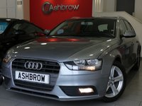 USED 2015 15 AUDI A4 AVANT 2.0 TDI SE TECHNIK 5d 136 S/S HDD SAT NAV WITH JUKEBOX & DVD PLAYBACK (MMI NAVIGATION PLUS), FULL LEATHER INTERIOR, DAB RADIO, WIRELESS LAN CONNECTION (WLAN), BLUETOOTH MOBILE PHONE PREP WITH MUSIC STREAMING, AUDI MUSIC INTERFACE FOR IPOD / USB DEVICES (AMI), MMI WITH 2x SD CARD READERS, FRONT & REAR PARKING SENSORS WITH DISPLAY, ELECTRIC TAILGATE, LEATHER MULTI FUNCTION STEERING WHEEL, CRUISE CONTROL, LIGHT & RAIN SENSORS WITH AUTO DIMMING REAR VIEW MIRROR, 1 OWNER FROM NEW, FULL AUDI SERVICE HISTORY, £30 ROAD TAX 116 G/KM