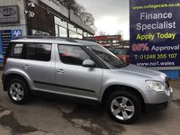 USED 2013 13 SKODA YETI 2.0 S TDI CR 4X4 5d 109 BHP, only 52000 miles ***GREAT FINANCE DEALS AVAILABLE***
