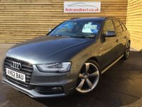 2012 AUDI A4 2.0 AVANT TDI S LINE BLACK EDITION 5d LOW MILEAGE  £14599.00