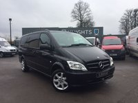 USED 2015 15 MERCEDES-BENZ VITO 2.1 116 CDI DUALINER AUTOMATIC LWB Satellite Navigation, Air Conditioning, Reverse Camera
