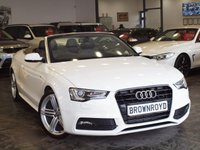 USED 2012 12 AUDI A5 CABRIOLET 2.0 TDI S LINE S/S 2d 177 BHP HEATED LTHR+BANG-OLUFSEN+FASH