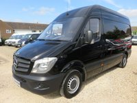 2014 MERCEDES-BENZ SPRINTER 2.1 CDI MWB HI ROOF BLACK 57309 MILES ONLY  £14995.00