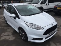 USED 2015 64 FORD FIESTA 1.6 ST-2 3d 180 BHP IN METALLIC WHITE WITH ONLY 22000 MILES APPROVED CARS ARE PLEASED TO OFFER THIS FORD FIESTA 1.6 ST-2 3 DOOR IN WHITE WITH FULL BLACK LEATHER RECARO SEATS AND A HIGH SPEC WITH A FULL SERVICE HISTORY AND IN A IMMACULATE CONDITION THROUGHOUT WITH ONLY 22000 MILES FROM NEW AND ONLY 2 OWNERS A GREAT LITTLE SPORTS HOT HATCH