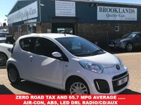 USED 2013 63 CITROEN C1 1.0 VTR 3 DOOR 67 BHP WHITE AC Zero Road Tax and 65.7 MPG average .....Air-Con, ABS, LED DRL Radio/CD/Aux