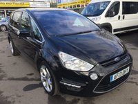 2013 FORD S-MAX 2.0 TITANIUM TDCI 5 DOOR AUTOMATIC 138 BHP IN  BLACK WITH FULL SERVICE HISTORY £10990.00