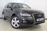 USED 2013 13 AUDI Q5 2.0 TDI QUATTRO SE 5DR AUTOMATIC 175 BHP HEATED HALF LEATHER + SAT NAVIGATION + PARKING SENSOR + BLUETOOTH + CRUISE CONTROL + MULTI FUNCTION WHEEL + CLIMATE CONTROL + 18 INCH ALLOY WHEELS