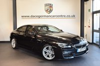 USED 2015 65 BMW 6 SERIES 3.0 640D M SPORT GRAN COUPE 4DR AUTO 309 BHP + FULL LEATHER INTERIOR + FULL BMW SERVICE HISTORY + PRO SATELLITE NAVIGATION + HEATED SPORT SEATS + BLUETOOTH + CONNECTED DRIVE + DAB RADIO + PARKING SENSORS + 19 INCH ALLOY WHEELS +