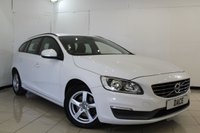 USED 2015 15 VOLVO V60 2.0 D4 BUSINESS EDITION 5DR 178 BHP SERVICE HISTORY + 1 OWNER FROM NEW + SAT NAVIGATION + PARKING SENSOR + BLUETOOTH + CRUISE CONTROL + MULTI FUNCTION WHEEL + CLIMATE CONTROL + 16 INCH ALLOY WHEELS