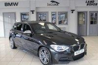 USED 2015 15 BMW 1 SERIES 3.0 M135I 5d 316 BHP FULL BLACK LEATHER SEATS + FULL BMW SERVICE HISTORY + SAT NAV + XENON HEADLIGHTS + BLUETOOTH + HEATED FRONT SEATS + REAR PARKING SENSORS + DAB RADIO + 18 INCH ALLOYS