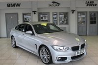USED 2016 16 BMW 4 SERIES 3.0 430D M SPORT GRAN COUPE 4d AUTO 255 BHP FULL BLACK LEATHER SEATS + FULL BMW SERVICE HISTORY + PRO SAT NAV + XENON HEADLIGHTS + 19 INCH ALLOYS + HEATED FRONT SEATS + PARKING SENSORS + DAB RADIO