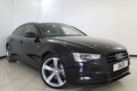 USED 2014 14 AUDI A5 2.0 SPORTBACK TDI S LINE BLACK EDITION S/S 5DR 175 BHP SERVICE HISTORY + LEATHER SEATS + SAT NAVIGATION + PARKING SENSOR + BLUETOOTH + CRUISE CONTROL + MULTI FUNCTION WHEEL + CLIMATE CONTROL + 18 INCH ALLOY WHEELS
