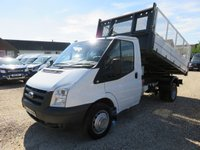 2010 FORD TRANSIT 2.4 TDCi 350 TIPPER 115 BHP WITH REMOVABLE CAGE SIDES £8995.00