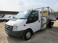 2009 FORD TRANSIT 2.4 TDCi 350 115 BHP TIPPER WITH TOOL BOX AND WORK GANTRY 41609 MILES £9995.00