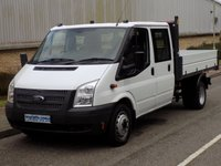 2014 FORD TRANSIT 2.2 RWD 350 DRW DOUBLE CAB TIPPER 125BHP 6 SPEED £11995.00