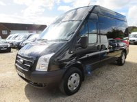 2013 FORD TRANSIT 2.2 TDCi 350 TREND LWB HI ROOF 125 BHP VAN WITH TAIL LIFT 59431 MILES £12995.00