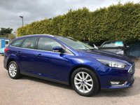 2015 FORD FOCUS 1.5 TDCI TITANIUM  NAVIGATOR ESTATE 5d WITH ONE PRIVATE OWNER FROM NEW £9500.00