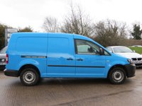 USED 2013 13 VOLKSWAGEN CADDY MAXI 1.6 C20 TDI 1d 101 BHP NO VAT TO PAY, ONE OWNER FROM NEW + AIR CONDITIONING