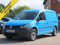 USED 2015 15 VOLKSWAGEN CADDY MAXI 1.6 C20 TDI STARTLINE 1d 101 BHP PRICE PLUS VAT, ONE OWNER FROM NEW + AIR CONDITIONING