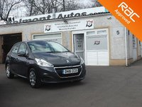 USED 2016 16 PEUGEOT 208 1.0 ACCESS A/C 5d 68 BHP Bluetooth -USB - AUX - Cruise Control- Full size spare wheel
