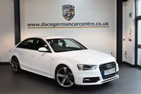 USED 2014 63 AUDI A4 2.0 TDI S LINE BLACK EDITION 4DR 148 BHP + FULL BLACK LEATHER INTERIOR + FULL SERVICE HISTORY + 1 OWNER FROM NEW + SATELLITE NAVIGATION + BLUETOOTH + SPORT SEATS + HEATED MIRRORS + PARKING SENSORS + 18 INCH ALLOY WHEELS +