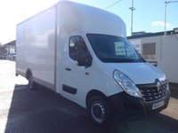 2016 RENAULT TRUCKS MASTER 2.3 125.35 16FT LUTON DROPWELL, 125 BHP, LOW MILES, 1 COMPANY OWNER £17995.00