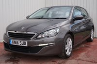 USED 2014 14 PEUGEOT 308 1.6 E-HDI ACTIVE 5d 114 BHP ZERO ROAD TAX