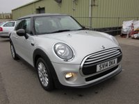 2014 MINI HATCH COOPER 1.5 COOPER 3d 134 BHP  CHILI PACK £10995.00