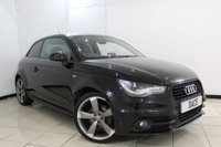 USED 2012 12 AUDI A1 2.0 TDI S LINE BLACK EDITION 3DR 143 BHP FULL SERVICE HISTORY + HALF LEATHER SEATS + BLUETOOTH + MULTI FUNCTION WHEEL + CLIMATE CONTROL + 18 INCH ALLOY WHEELS