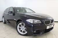 USED 2012 12 BMW 5 SERIES 2.0 520D M SPORT TOURING 5DR AUTOMATIC 181 BHP FULL SERVICE HISTORY + HEATED LEATHER SEATS + SAT NAVIGATION + BLUETOOTH + PARKING SENSOR + CRUISE CONTROL + MULTI FUNCTION WHEEL  + 18 INCH ALLOY WHEELS