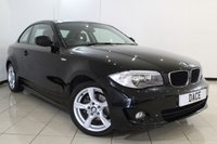 USED 2011 11 BMW 1 SERIES 2.0 120D SPORT 2DR 175 BHP BMW SERVICE HISTORY + LEATHER SEATS + MULTI FUNCTION WHEEL + AIR CONDITIONING + RADIO/CD + 17 INCH ALLOY WHEELS