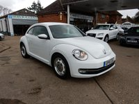 USED 2015 15 VOLKSWAGEN BEETLE 1.2 DESIGN TSI BLUEMOTION TECHNOLOGY 3d 104 BHP ONE OWNER,VW HISTORY,TWO KEYS,AIR CON,BLUETOOTH