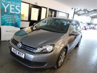 USED 2010 10 VOLKSWAGEN GOLF 1.4 SE TSI DSG 5d AUTO 121 BHP Fitted with park assist front and rear, this Golf Auto is finished in united grey metallic with black & Grey cloth seats.It has had 1 gentleman and one lady  private owner from new. It comes with an excellent service history consisting of stamps, done at VW at 8944/16891/23995/30735/36829 then independently @ 45121/51858 miles. The car will be supplied with a service, 6 month RAC warranty with assistance and an April 2020 Mot. Finance and extended warranties are available.