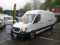 2015 MERCEDES-BENZ SPRINTER 313 CDI 130 BHP, LONG WHEEL BASE, HIGH ROOF,  CRUISE CONTROL BLUE TOOTH ELECTRIC  WINDOWS, 6 SPEED, FULL YEARS MOT  £SOLD