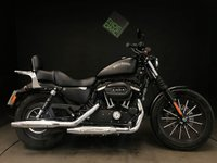 USED 2014 14 HARLEY-DAVIDSON SPORTSTER 883 IRON. ABS. 1271 MILES. TWIN SEAT. SISSY BAR. RACK. ALARM