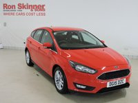 USED 2015 15 FORD FOCUS 1.5 ZETEC TDCI 5d 118 BHP with front/rear parking assist